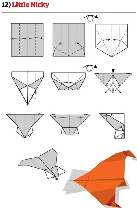 How To Make Awesome Paper Airplanes Step By Step - make paper airplanes lots of printable on