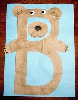 bubba bear coloring page bubba bear craft alphabet book abc crafts activities