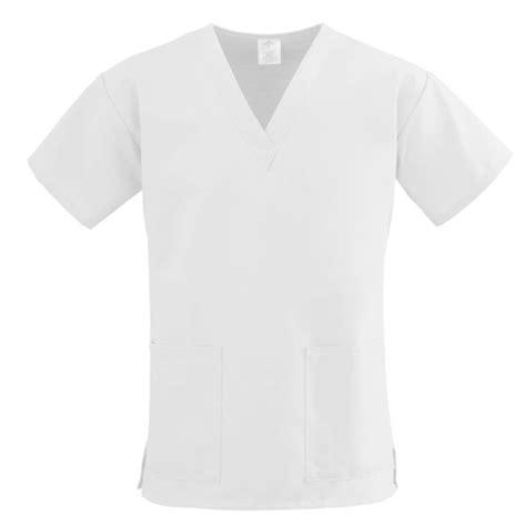 medline comfortease scrubs comfortease two pocket scrub top white large 1 each 8800xtql