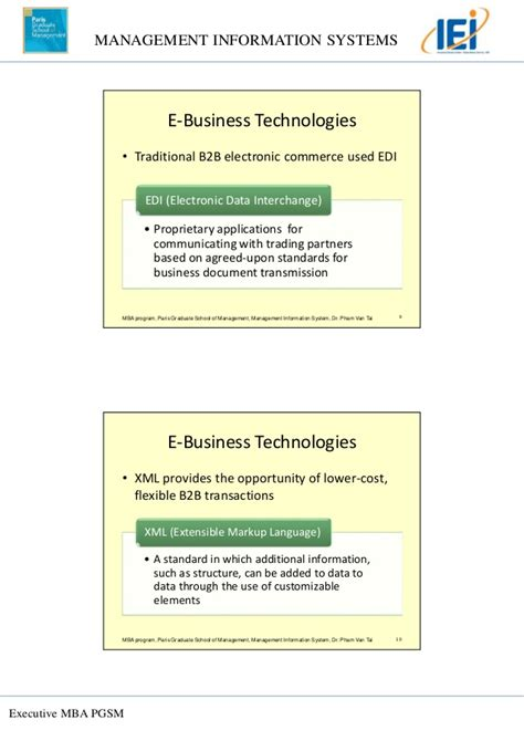 Mba Information Systems Worth It by Topic 3 E Commerce And E Business