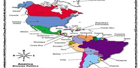 mapa politico de america con todos los paises paises y capitales de