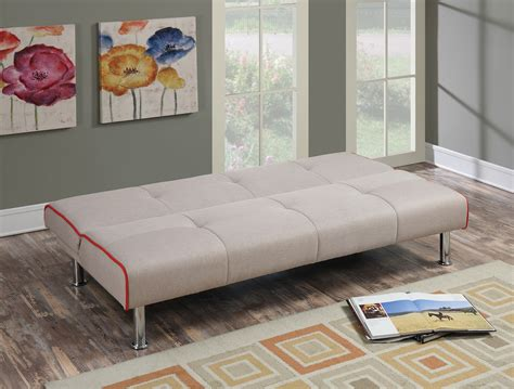 poundex bed f6822 taupe convertible sofa bed by poundex