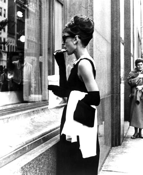 Hepburn In Breakfast At Tiffanys by Hepburn From The Bygone