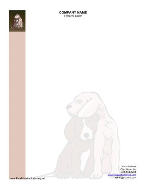 printable dog stationery dog stationery