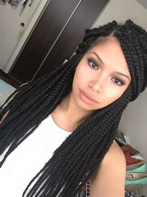 box braids type of hair protective style h a i r g l o r y pinterest box