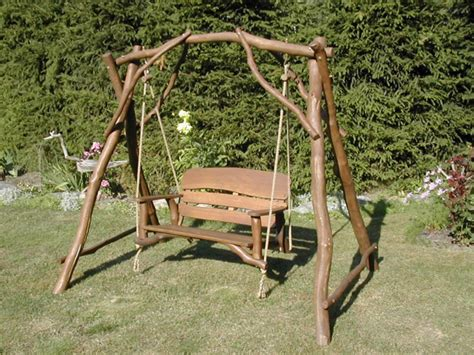 oak swing seat rustic oak 2 seater memorial swing seat