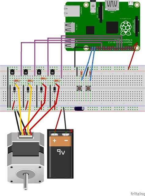 stepper motor with raspberry pi