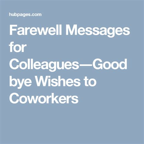 farewell messages for a colleague that s leaving the