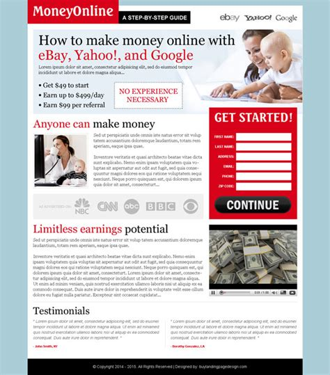 best google money review type html landing page design 73 best selling landing page designs for marketing success