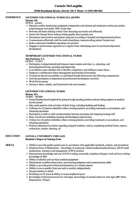 licensed practical nurse resume template writing lpn resume skills