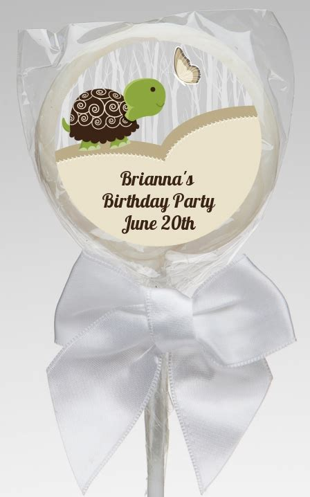 Turtle Baby Shower Favors by Turtle Neutral Birthday Lollipop Favors Turtle