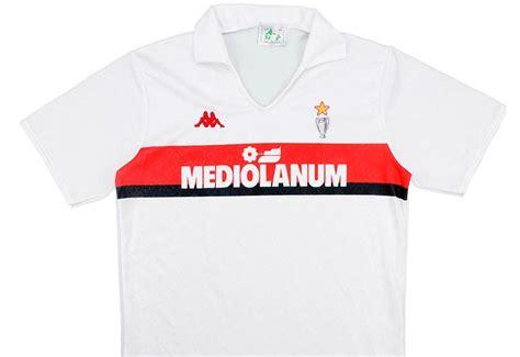 Jersey Retro Milan Away Th 90 Mediolanum Adidas Kappa 1989 90 Ac Milan Away Shirt Vintage Football
