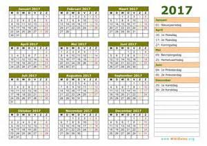 feestdagen 2017 kalender