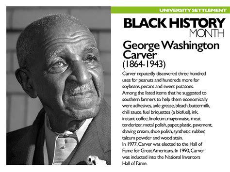 biography of george washington carver timeline celebrating black history university settlement