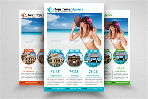 travel agency flyer template flyer templates