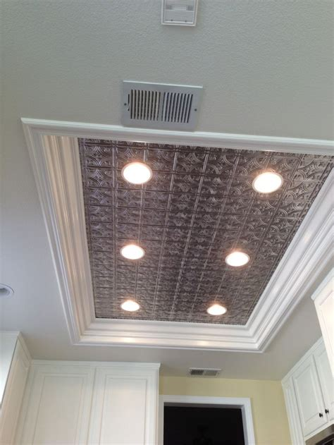 recessed lighting for kitchen ceiling remodel fluorescent light box in kitchen don t like tin