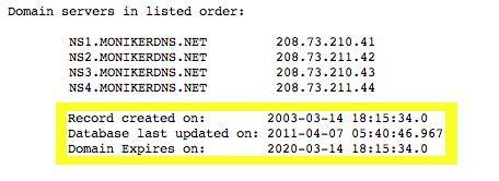 determine   domain   expire