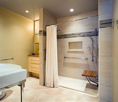 accessible bathroom design accessible design bath remodel contemporary bathroom baltimore by l caulfield llc