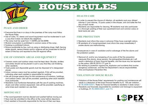 sle house rules for tenants bing images