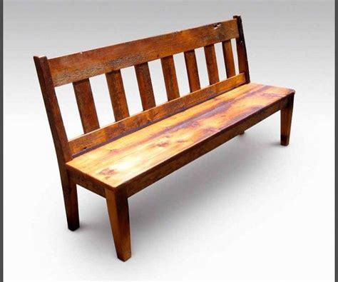 rustic bench with back rustic bench salvaged reclaimed wood with slatted back