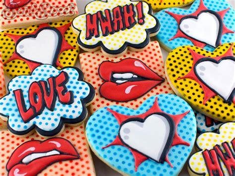 Kitchen Stencils Designs by Pop Art Valentine Cookies Semi Sweet Designs