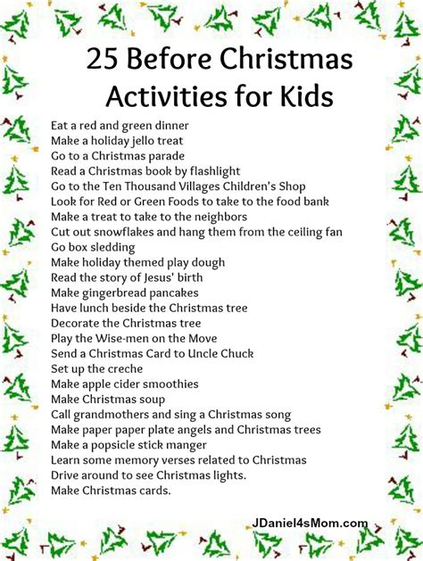 the best advent calendar christmas activities for kids
