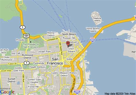 san francisco map nob hill map of nob hill inn san francisco