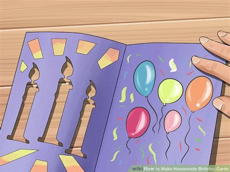 how to make a birthday card step by step 3 ways to make birthday cards wikihow
