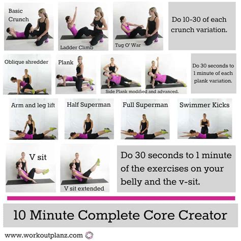 best 10 minute ab workouts for to get flat stomach quickly