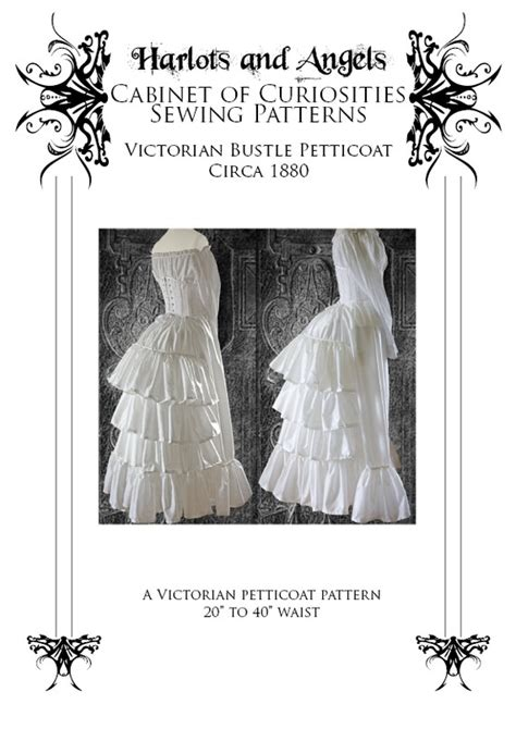 sewing pattern victorian skirt steunk victorian bustle skirt petticoat sewing pattern