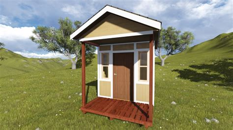 tall gable shed plan   porch