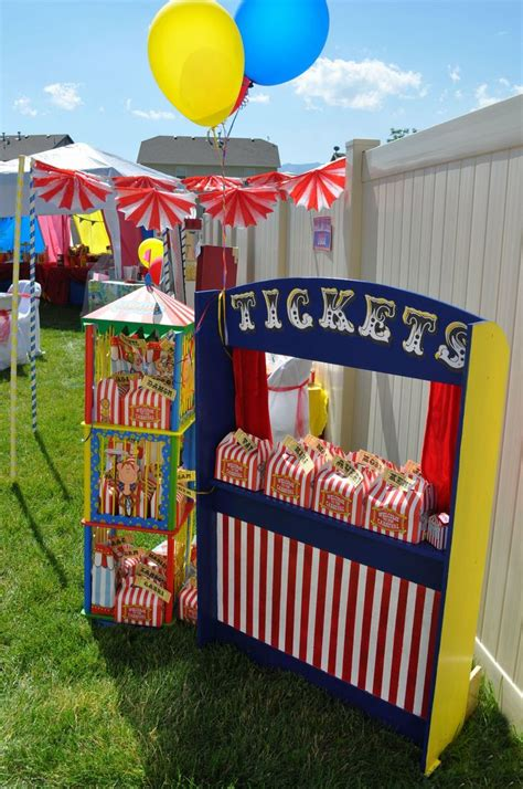 carnival themes ideas handmade ticket booth from kara s party ideas circus
