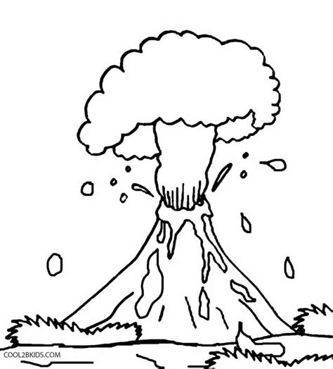Volcano Coloring Pages Preschool Coloring Home