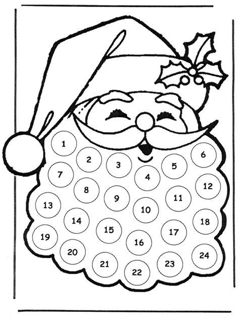 dessin à colorier calendrier de noel