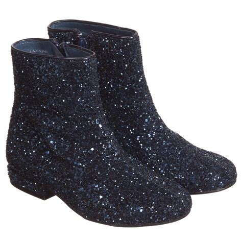 glitter boots marc navy blue glitter ankle boots