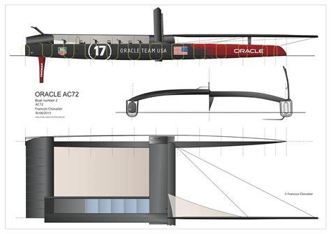america s cup catamaran dimensions chevalier taglang scoop ac72 drawings unveiled