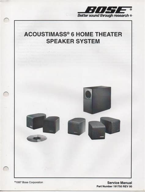 bose acoustimass  home theater speaker system manual