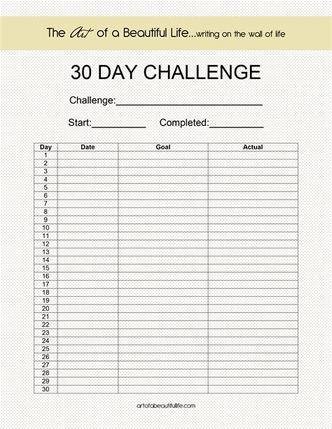 10 best images of printable workout 30 day blank calendar