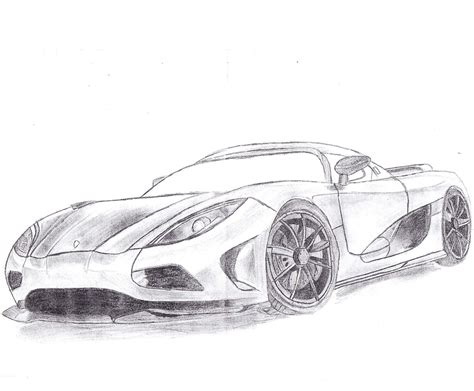 R Sketches by Koenigsegg Agera R Drawing Sketch Coloring Page