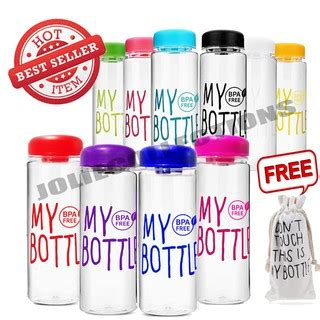 Botol Minum My Bottle Murah Import joliecollections my bottle logo bpa free warna baru grosir