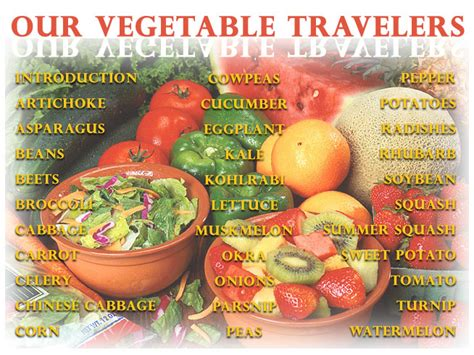 Garden Vegetable List Our Vegetable Travelers Archives Aggie Horticulture