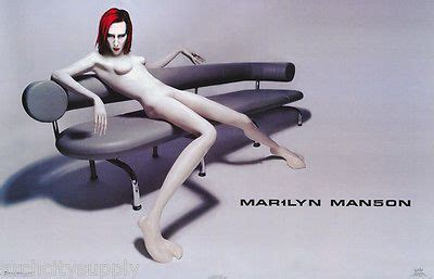 poster music marilyn manson drawing on couch free
