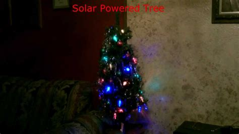 solar powered christmas lights christmas tree simple diy