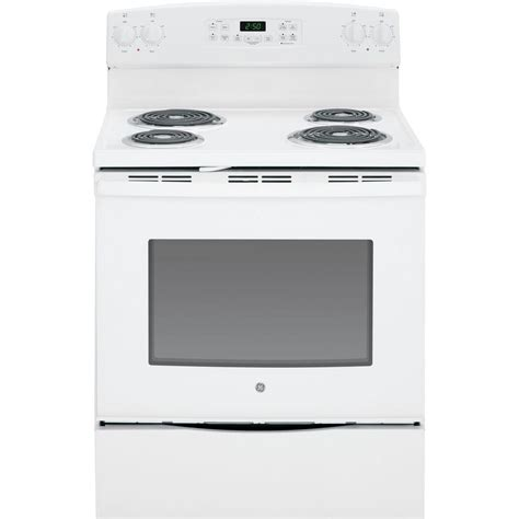 ge 4 4 cu ft slide in electric range with self cleaning