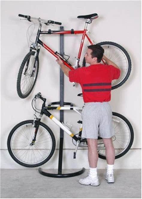 racor 2 bike rack gravity freestanding stand storage