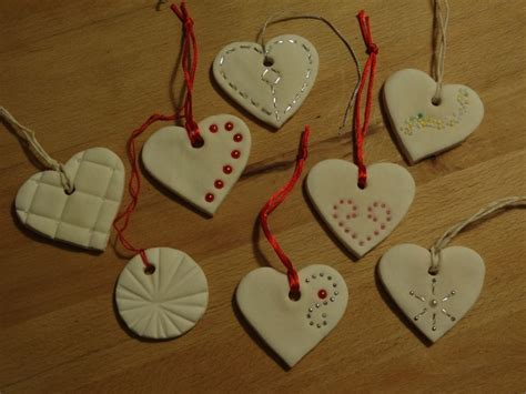 show tell share baking soda clay heart ornaments