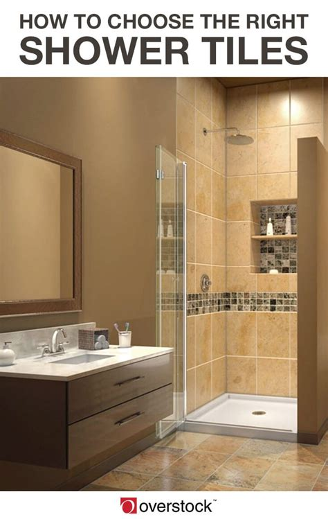 how to select bathroom tiles how to pick the perfect tiles for your shower overstock com