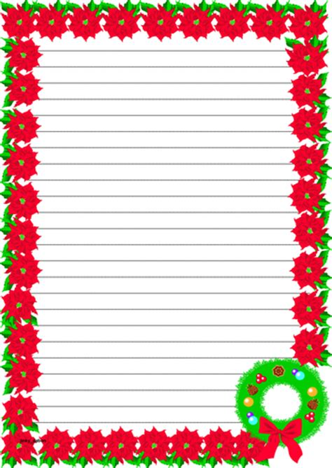 christmas themed paper christmas themed lined paper and pageborders by jinkydabon