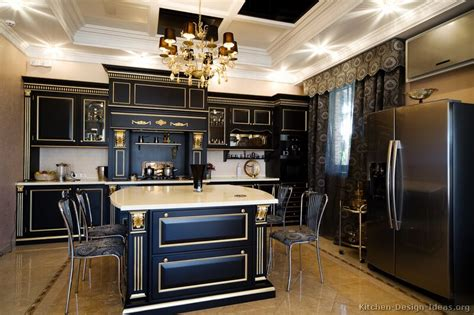 Black Kitchen Cabinets Design Ideas - pictures of kitchens traditional black kitchen cabinets
