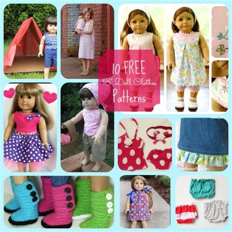 clothes for free american doll 10 free patterns for clothing and